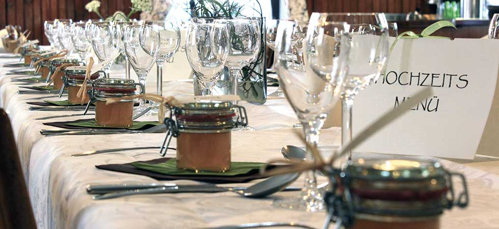 Hochzeiten und andere Feste bis 120 Personen