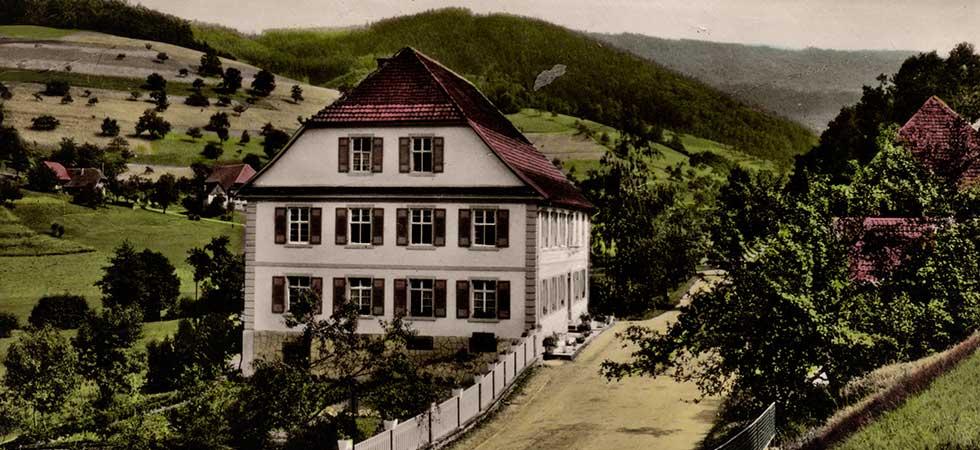Alte Postkarte vom Gasthaus Zum Wilden Mann